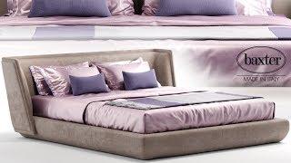 "№162. Modeling Bed "" Baxter metropolis plain "" Autodesk 3ds Max & marvelous designer"