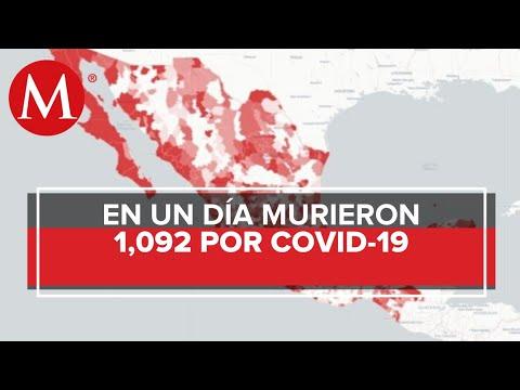 México supera los 100 mil casos de coronavirus; suma mil 92 muertes en un día