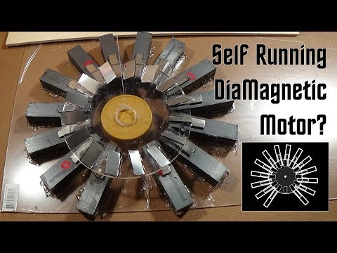 Self Running, DiaMagnetic Motor?