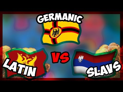 HOI4 | ALL GERMANIC vs LATIN vs SLAV! - Millennium Dawn [Hearts Of Iron 4]