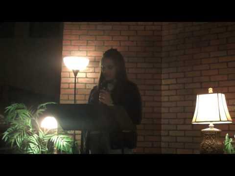 Jenna S. reading poem
