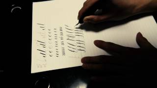 How to Hold Dip pen Copperplate script Calligraphy sub https://www....