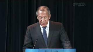видео: Министр иностранных дел С.В.Лавров о внешней политике