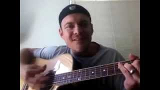 How To Play Wagon Wheel By Old Crow Medicine Show Guitar Lesson - With Strumming Pattern