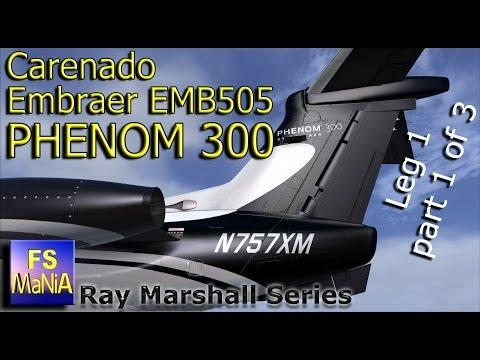 Carenado Embraer PHENOM 300 Brazil to Wichita Leg 1, part 1 of 3