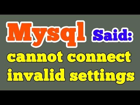 Xampp MySQL said Cannot connect invalid settings error | Phpmyadmin