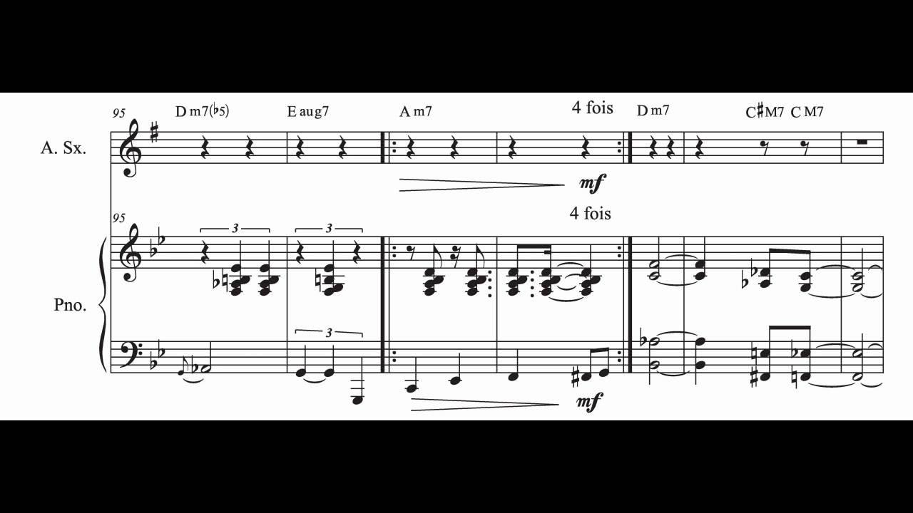 """Top Jazzophone"""" pour saxophone alto et piano (partition en musique  LL95"""