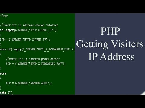 PHP : Getting Visitors IP Address