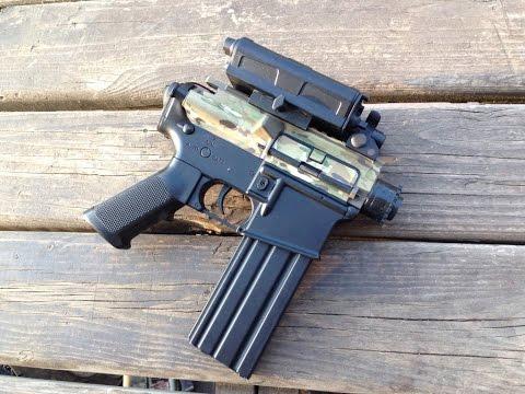 Shortest AEG AR Is Even Shorter: Airsoft Pistol Conversion