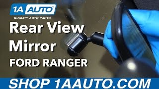 How to Remove Reinstall Rear View Mirror 2001 Ford Ranger NO SPECIAL TOOLS