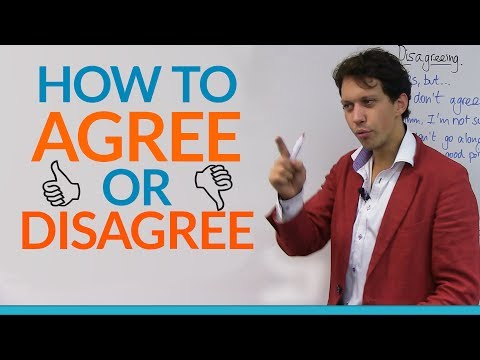 Conversation Skills: How to agree or disagree in English