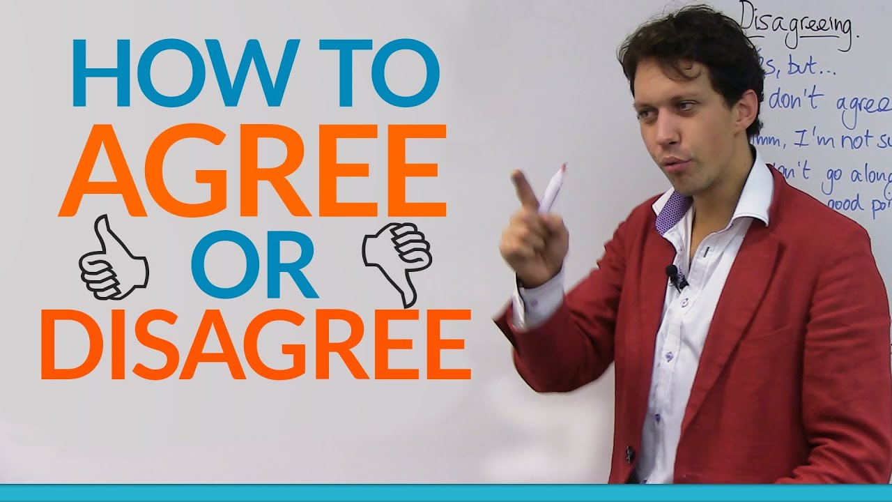 Free Talk Monday January 26th Agreeing >> Conversation Skills How To Agree Or Disagree Engvid