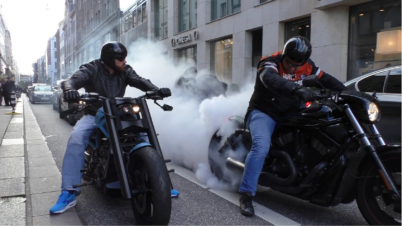 Motorcycles Bikers And More: Burnouts, Brutal Sounds And More