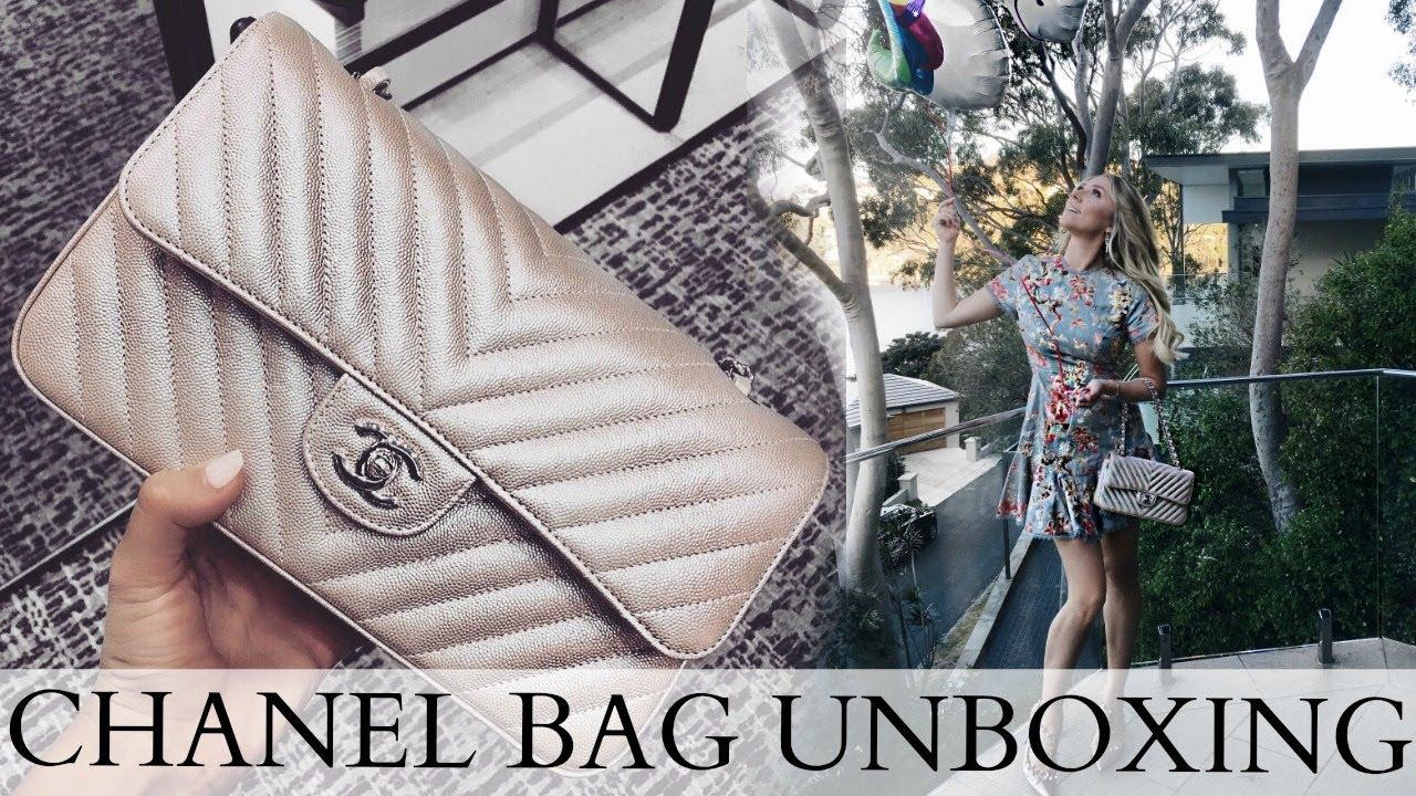 53fba9f0b0f2 THE MOST BEAUTIFUL BAG IN THE WORLD | CHANEL FLAP CHEVRON CAVIAR LIGHT GOLD  'UNICORN'