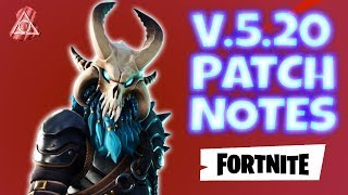 Fortnite PvE : Version 5.20 PATCH NOTES