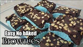 Easy No baked Brownies by mhelchoice Madiskarteng Nanay