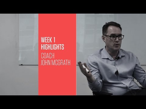 Transform 2017 Week 1 John McGrath: What got you here won't get you there
