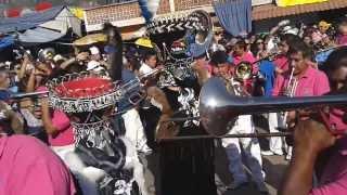 CHINELOS DE STA ROSA XOCHIAC BRINKANDO EN EL CARNAVAL TEPOZTLAN 2014