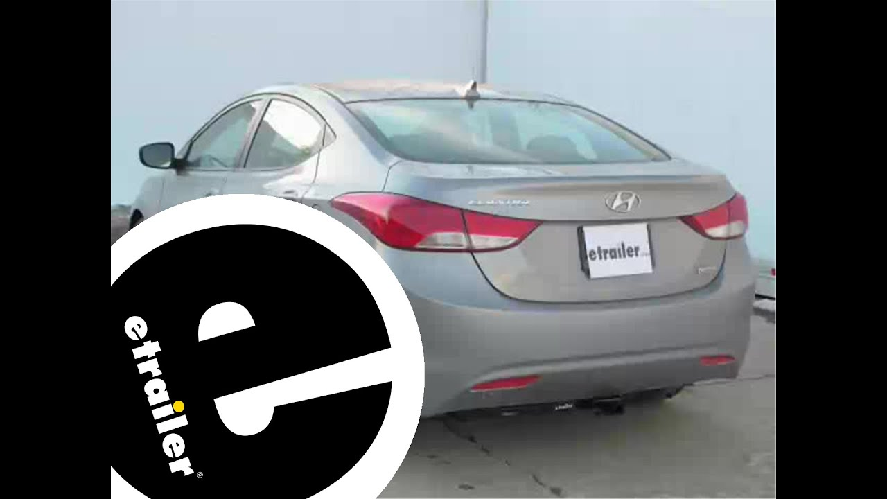installation of the trailer hitch on a 2012 hyundai