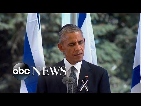 President Obama Attends Funeral of Former Israeli President Shimon Peres