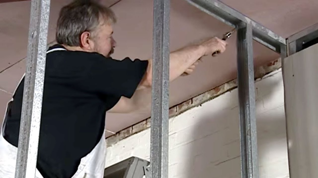 how to install metal stud framing youtube - Metal Wall Framing