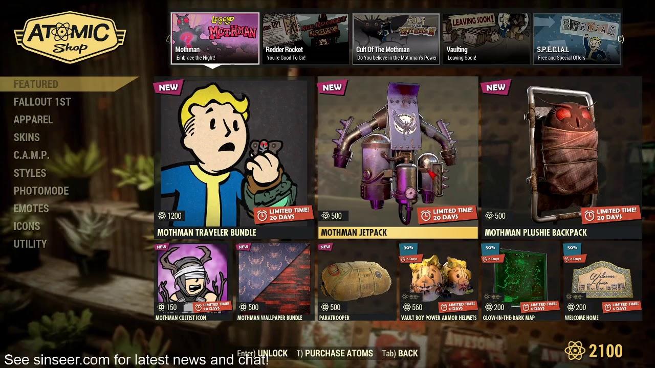 Atomic Shop Update - June 16, 2020 - Fallout 76