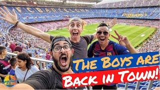 Attending an fc barcelona la liga match at the camp nou in barcelona, spain! i take boys to their first soccer match! is considered one of socce...