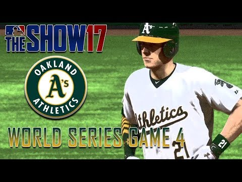 MLB The Show 17 Custom Oakland Athletics World Series Game 4