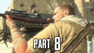 Sniper Elite 3 Gameplay Walkthrough Part 8 - Ghillie Suit Snipers (PS4)
