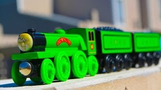 Thomas & Friends FLYING SCOTSMAN Wooden Railway Toy Train Review By Mattel Fisher Price