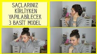Kirli Saçla Yapılabilecek 3 Isısız Saç Modeli (Okul-İş Saçı)   Nihan Güzel