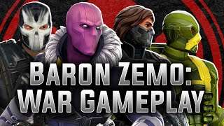 Marvel strike force - baron zemo: war gameplay!https://discord.gg/khasinoi wanted to make this video show just how effectively the non-minion hydra team d...