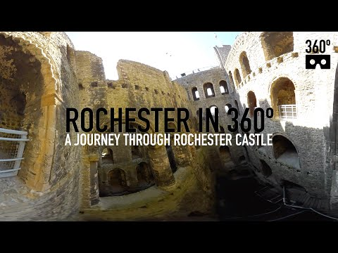 360 video journey through Rochester Castle, Kent - 360º VR