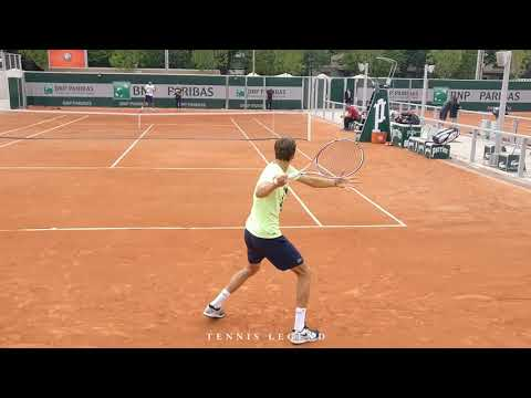 Daniil Medvedev Forehand And Backhand (Roland-Garros 2019 Practice)