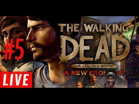 WE GOT LOCKED UP!! livestream!  The Walking Dead: Season 3  5 PART 2
