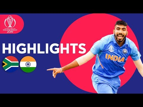 ICC Cricket World Cup 2019: India v South Africa: Match 8