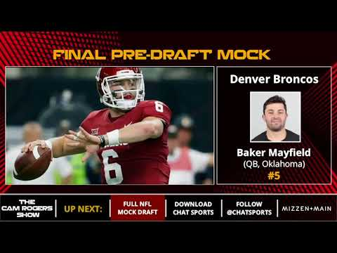 Final 2018 NFL Mock Draft: Darnold To Browns, Barkley to Giants, And Ridley to Cowboys