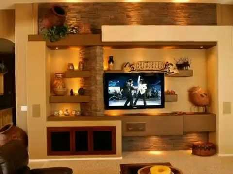 Living room interior design modern tv cabinet wall units Interior design ideas for led tv
