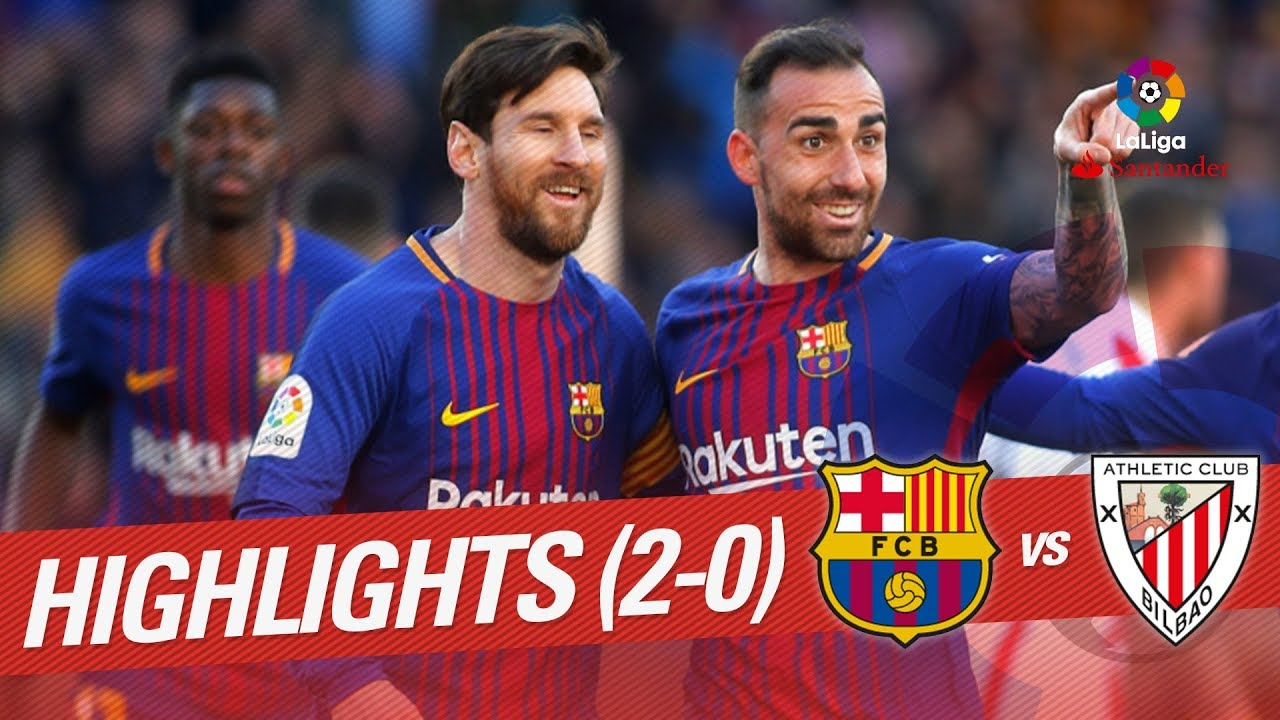 resumen de fc barcelona vs athletic club 2 0 youtube
