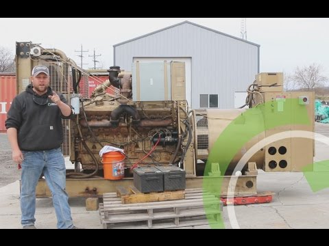 Green Industrial - Used Diesel Generator For Sale Detroit 16V71 565 KW 277  480 VOLT Start & Run