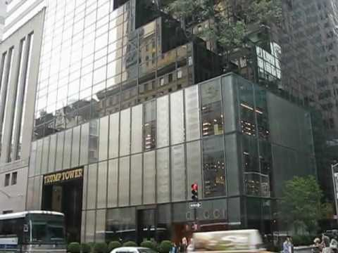 its a long way up standing before Trump Tower On Park Avenue New York City NYC