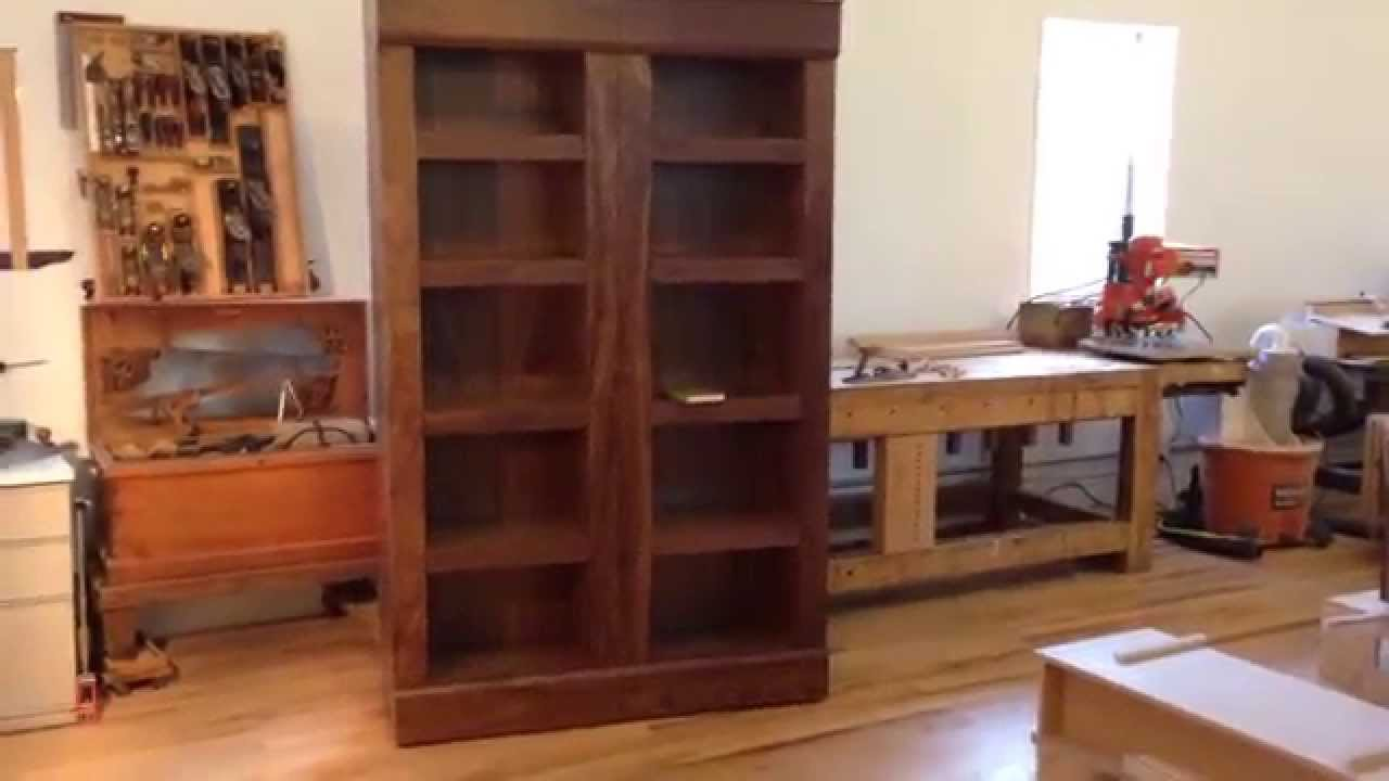 Walnut Bookcase With Secret Hidden Compartments For Jewelry   YouTube