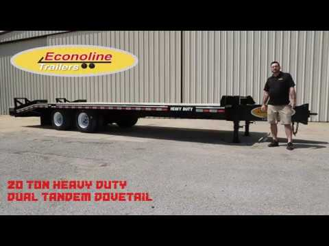 The Econoline 20-Ton Heavy Duty Dual Tandem Dovetail