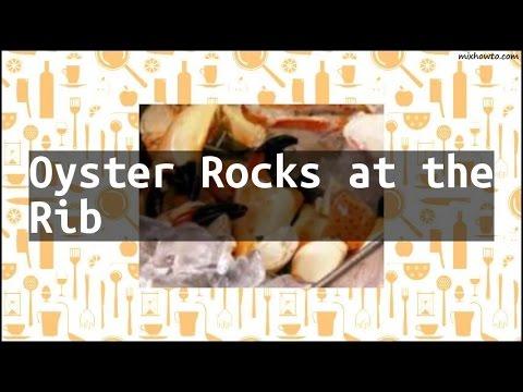 Recipe Oyster Rocks at the Rib
