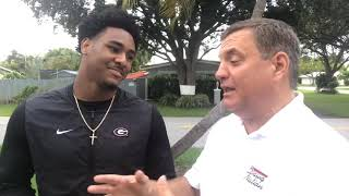 Kenny McIntosh's introduction to Georgia fans, @MikeGriffith32 video