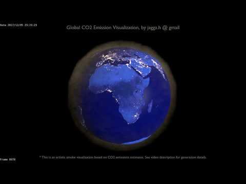 Global (Earth) CO2 Emissions, as a Crude Smoke Simulation [v2]