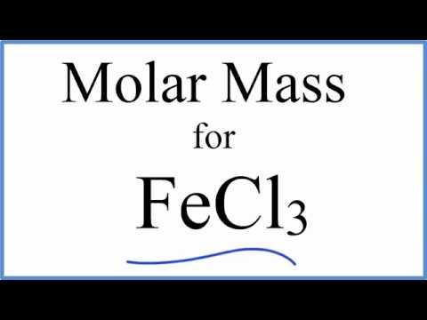 Molar Mass / Molecular Weight of FeCl3 : Iron (III) chloride