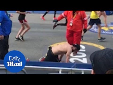 Маж лази на раце и нозе за да го заврши маратонот во Бостон