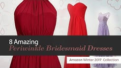 8 Amazing Periwinkle Bridesmaid Dresses Amazon Winter 2017  Collection