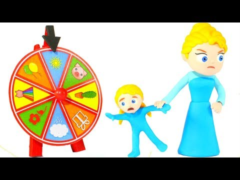 PRINCESS STOPS PLAYING WITH THE WHEEL OF FORTUNE 鉂� SUPERHERO BABIES PLAY DOH CARTOONS FOR KIDS